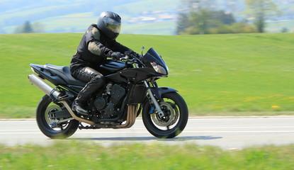 Black biker