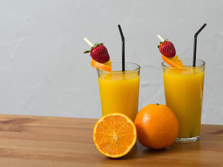 Fruchtsaftmix im Glas