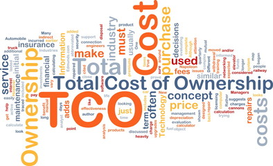 Total cost of ownership background concept