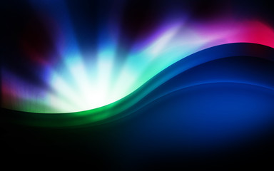 Fototapeta Abstract colour waves background
