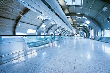 futuristic indoor walkway