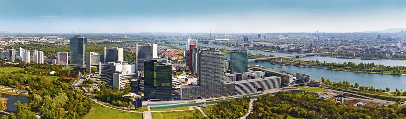 Skyline of Donau City Vienna with Danube