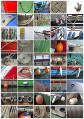 Plakat mit maritimen Details