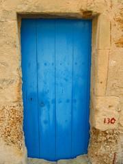 Rural blue door.
