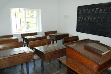 old victorian classroom