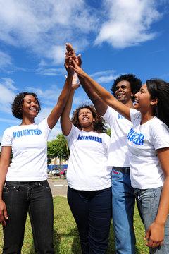 African american volunteer group