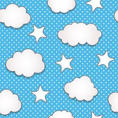 Keuken foto achterwand Hemel Clouds seamless pattern