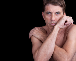 Male Model with Crossed Arms