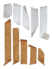 brown and white Strips of masking tape