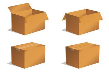 Paket Päckchen Lieferung Box Karton Set 1