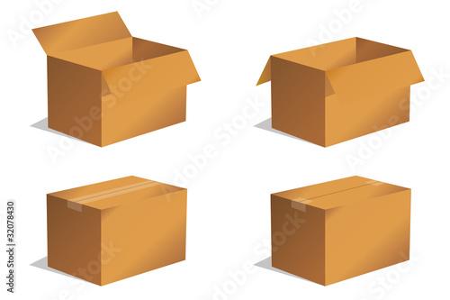 paket p ckchen lieferung box karton set 1 stockfotos und lizenzfreie vektoren auf. Black Bedroom Furniture Sets. Home Design Ideas