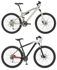 Sport  bicycle isolated on the white background with clipping pa