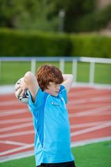 einwurf beim fußball