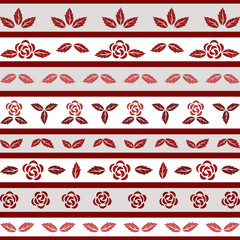 Floral border with rose.