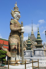 Guard at Grand Palace in Bangkok, Thailand