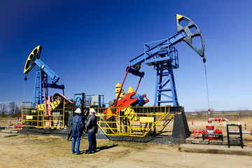 Gas production operator works