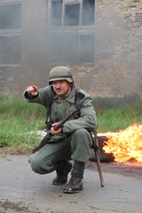 German soldier.WW2 reenacting. Kiev,Ukraine