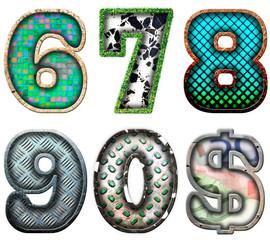 number series six to zero