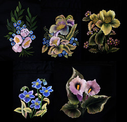 Oil painting pictures of flowers