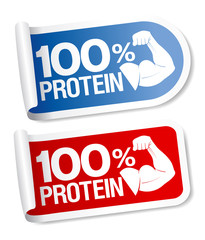 100 percent protein stickers.