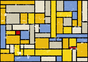 mondrian inspired color background, vector eps 10