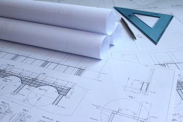 Mechanical engineering blueprints
