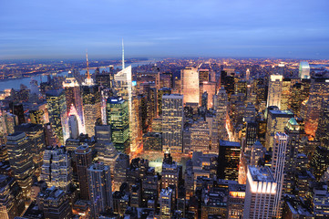 Wall Mural - New York City Manhattan Times Square night