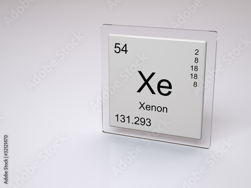 Xenon symbol xe chemical element of the periodic table stock xenon symbol xe chemical element of the periodic table urtaz Gallery