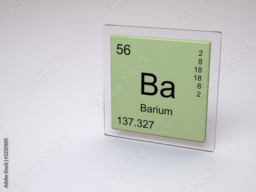 Barium Symbol Ba Chemical Element Of The Periodic Table Stock