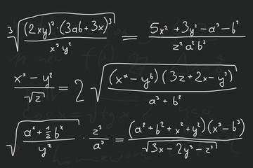 Mathematic blackboard doodle illustration