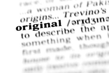 original  (the dictionary project)
