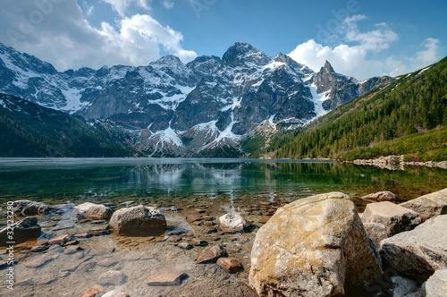 Fototapete Polish Tatra mountains Morskie Oko lake