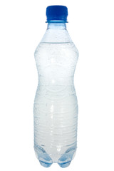 bottle with pure water. isolated on white background.