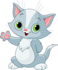 Fototapete - Kitten showing