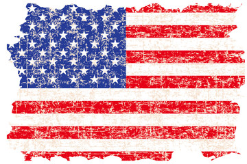 Grunge damaged American flag