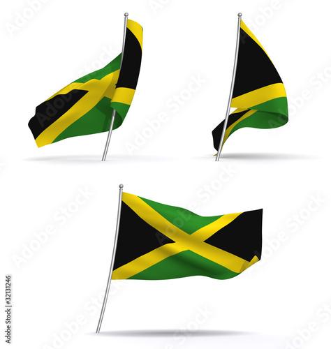 Jamaica Bandera. Awesome X Cm Bandera Nacional De Jamaica Colgando ...