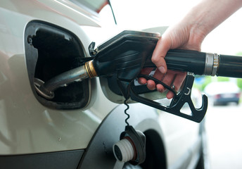 refueling gas in petrol station