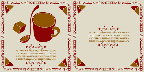 coffee shop cover woodcut