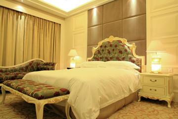 Bedroom interior in modern home