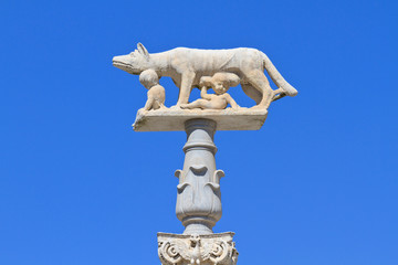 Romulus and Remus with Wolf Statue, Siena, Italy