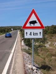 Verkehrszeichen Wildschweinwarnung