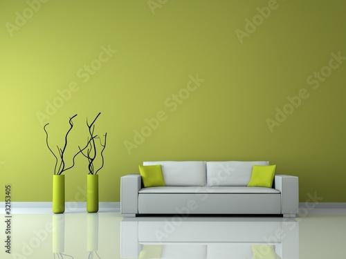 """minimalistisches Wohnzimmer grün"""" Stockfotos und lizenzfreie ..."""