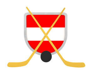 Austria shield ice hockey isolated