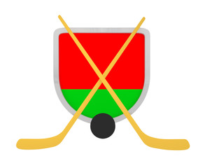 Belarus shield ice hockey isolated