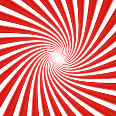 Poster de jardin Psychedelique White and red vortex