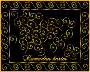 islamische Grußkarte zum Monat Ramadan