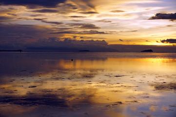 Sea sunset. Borneo.