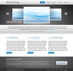 website template design - web portfolio layout