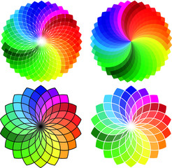 Abstract circle pattern, vector