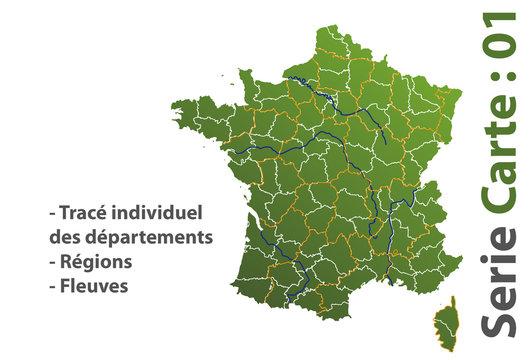 Carte de France dep reg fleuve